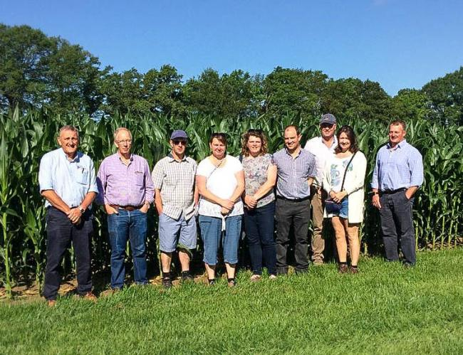 L-R:  Peter Cade (ForFarmers Account Manager), Julian Mills (ForFarmers Account Manager), Richard Sainsbury, Claire Sainsbury, Kate Bradley, Graham Bradley, Tim Sinnott, Susan Sinnott, Matt Jenkin (ForFarmers Account Manager)