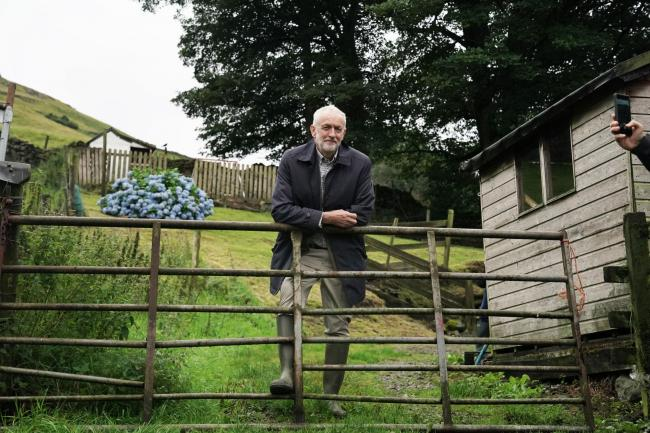 Labour Leader Jeremy Corbyn during a visit to Rakefoot Farm, Castlerigg, Keswick where they are highlighting the danger of a No Deal Brexit to sheep farmers. Picture: Owen Humphreys/PA Wire