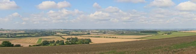 The site for a proposed development of up to 30 houses, with Chiseldon visible in the distance     1 comment