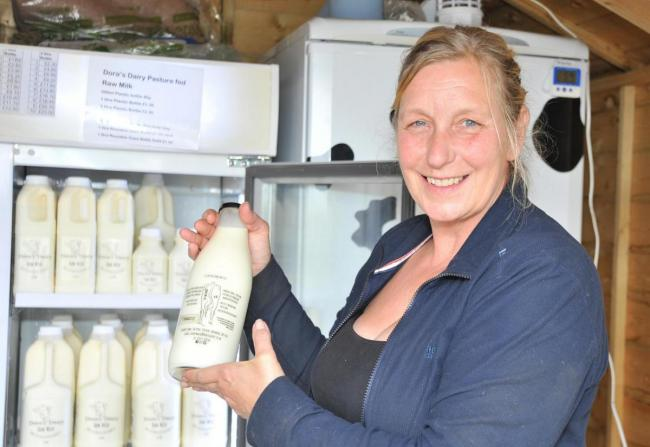 Sarah Cook from Dora's Dairy. Picture: Dave Cox