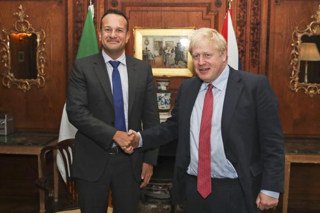 Taioseach Leo Varadkar meets Prime Minister Boris Johnson at Thornton Manor Hotel, on The Wirral, Cheshire