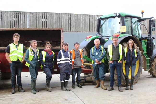 The safety workshop was held at the Duchy Home Farm