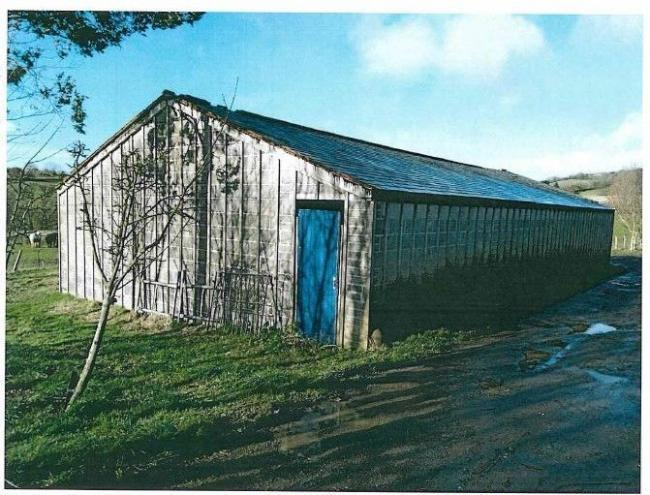 The unauthorised barn at Willow Farm Picture: Dorset Council