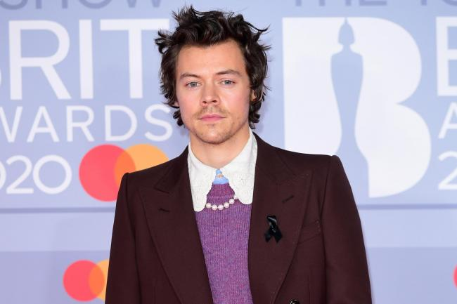 Harry Styles arrives at the Brits