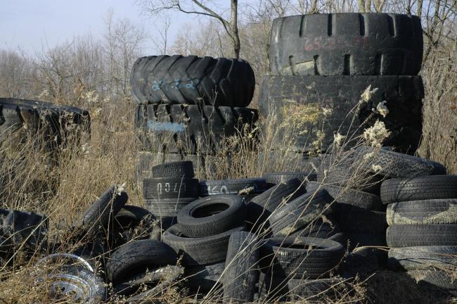 There has been an increase in reports of the illegal dumping of tyres in Devon and Cornwall. Stock photo.