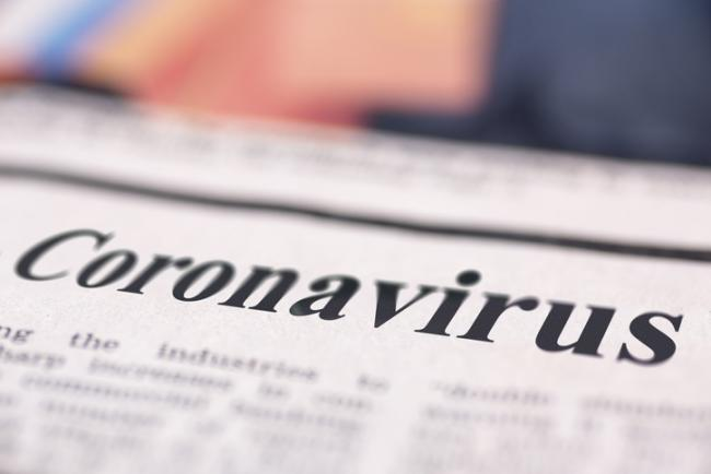 Virus outbreak written newspaper