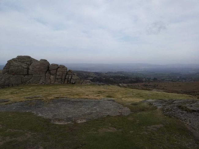 Haytor Rocks on Dartmoor. Picture: Daniel Clark - taken in March prior to the lockdown