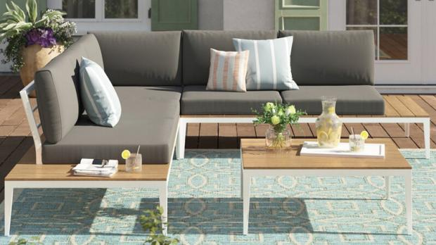 South West Farmer: This outdoor sofa can seat up to five people. Credit: Wayfair
