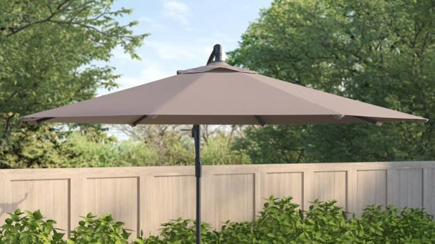 South West Farmer: This umbrella is offset for versatility. Credit: Wayfair