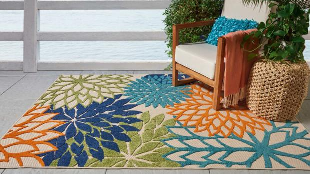 South West Farmer: Add some colour to your patio with this versatile rug. Credit: Wayfair