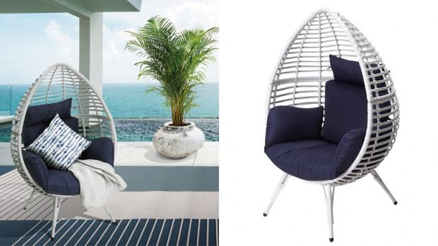 South West Farmer: Give your patio a trendy upgrade with this unique chair. Credit: Wayfair