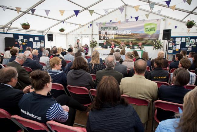 Devon Young Farmers debate at the 2019 Devon County Show. Picture: Guy Newman/Rekord Media