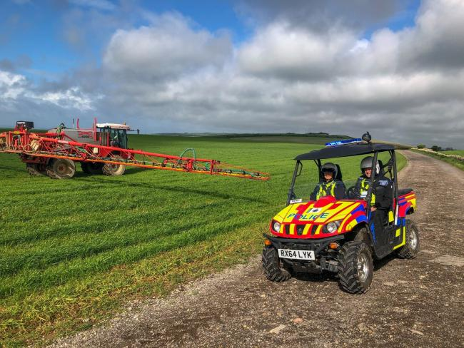 A quad bike has been stolen from a West Dorset farm. Picture: Dorset Police Rural Crime Team