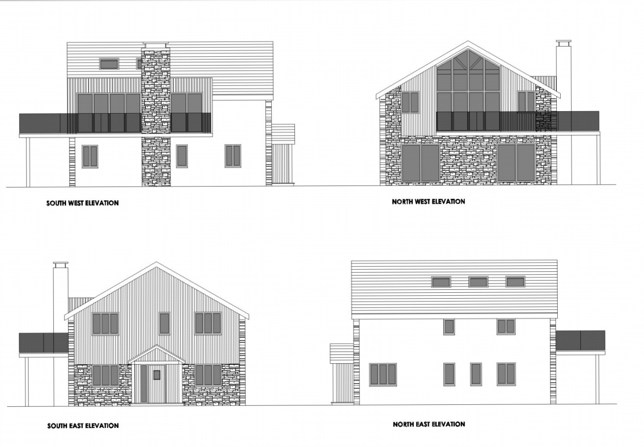 The proposed design of the new house to be built at Rame Head