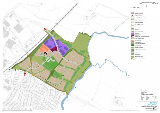 Site plan for Rawlings Farm development