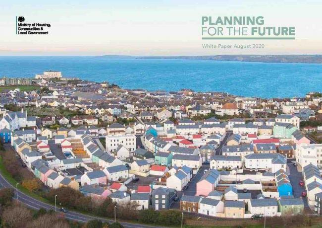 The Government's Planning for the Future White Paper consultation document - which includes a photo of Nansledan in Newquay