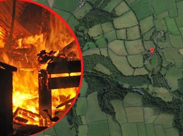 The farmhouse was considered to be 90 per cent destroyed. Picture: Getty/Google Maps