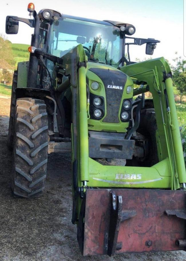 The stolen tractor. Picture: ASPolice Rural Affairs Unit