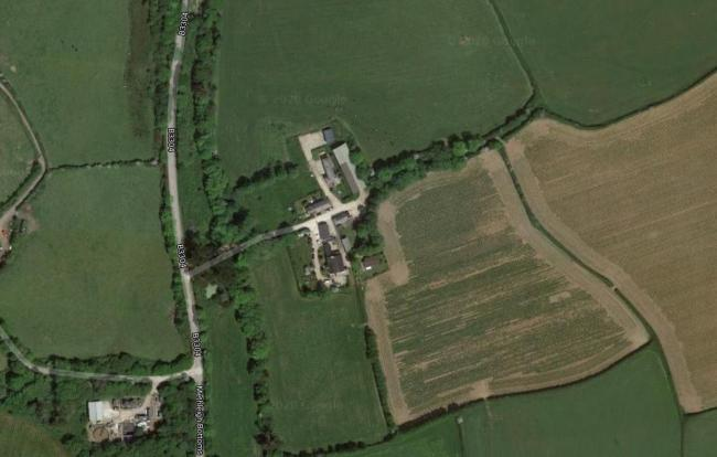 Treza Farm, Porthleven where planning permission was refused for two bungalows (Image: Google)