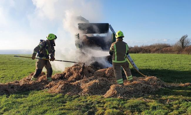 The fire fighters at work. Picture: Bude Fire Station