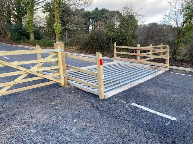 The new cattle grid