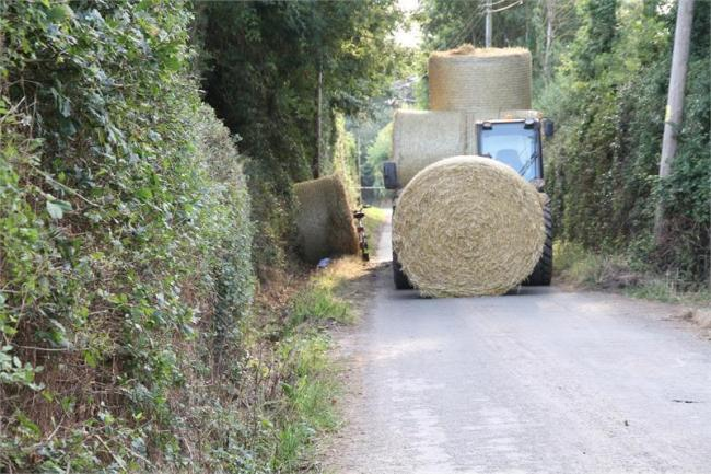 The bales. Picture: Devon and Cornwall Police