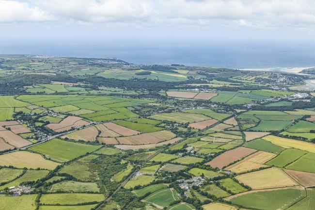 Farmland across West Cornwall