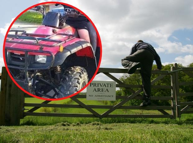 This is one of the quad bikes that has been stolen