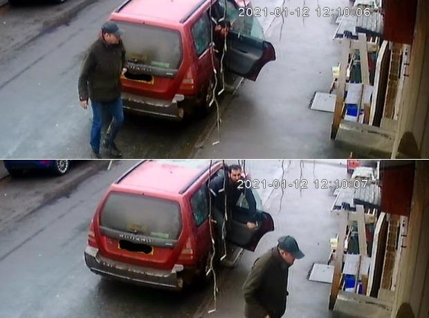 Images from the CCTV footage released by police