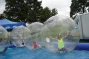 Have fun water zorbing at the Cornwall and Devon Countryman's Fair