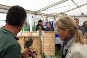 The Countess of Wessex met a Little Owl at yesterday's show