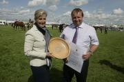 HRH The Duchess of Wessex presenting the Duke of Cornwall's Farm Diversification Award to Tim Blackshire