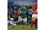 Ireland's Keith Earls, left, is a fitness worry