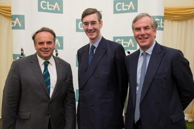 Neil Parish (left), Jacob Rees-Mogg (centre) and Tim Breitmeyer (right