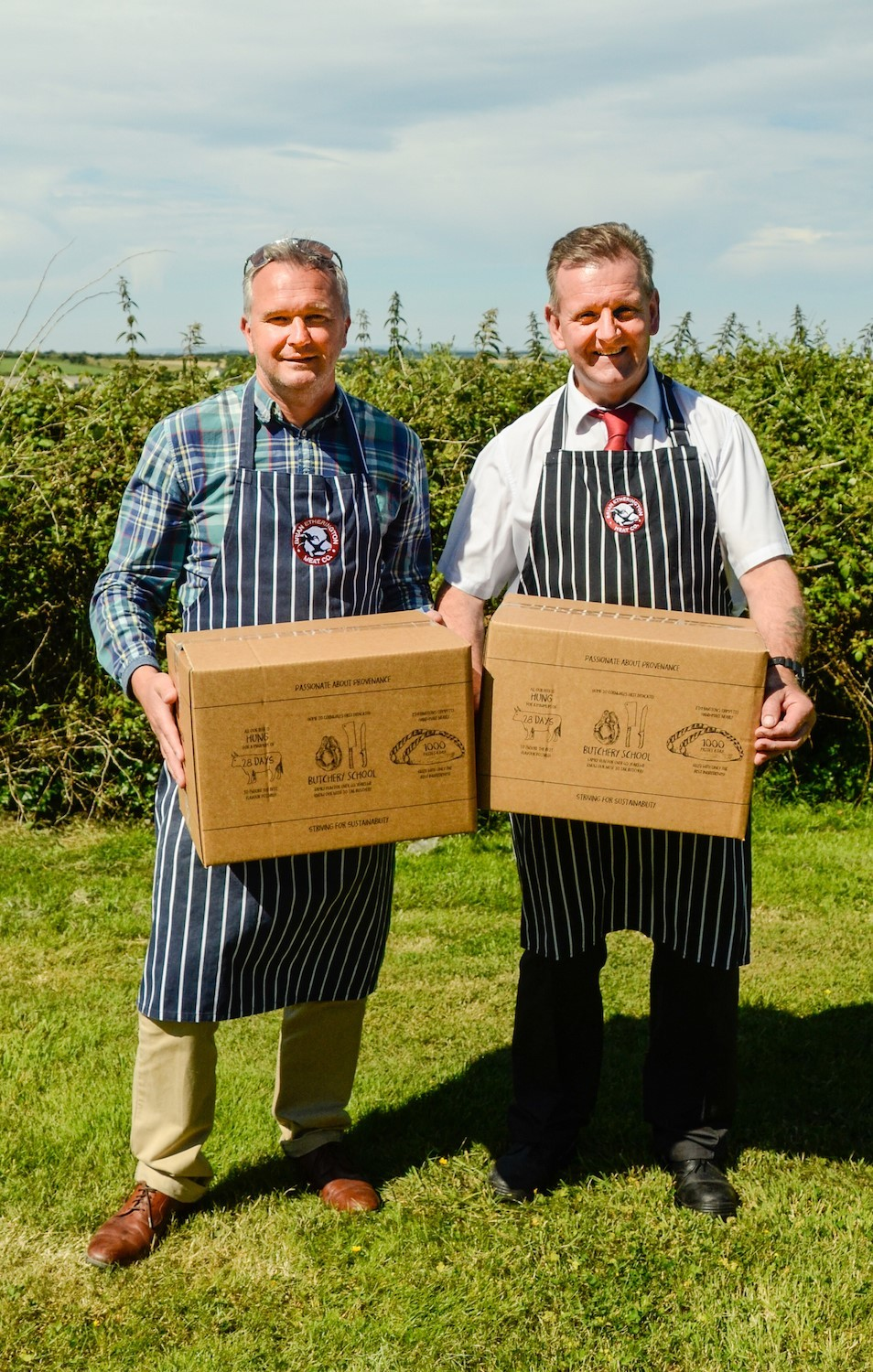 Managing Director Mark Etherington & Head Butcher Simon Rowse with Etherington's New Meat Boxes