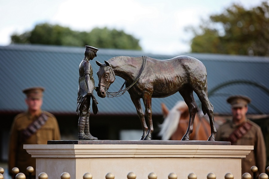 HRH The Princess Royal unveils new war memorial at The Horse Trust