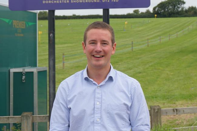 Show secretary Will Hyde at the showground entrance