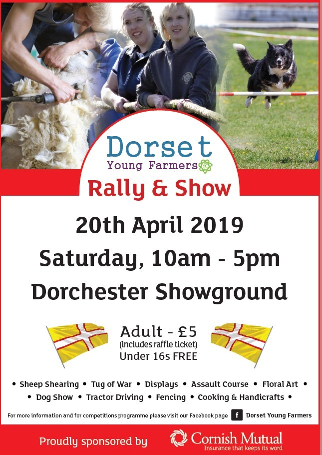 The show will take place on 20 April at Dorchester Showground