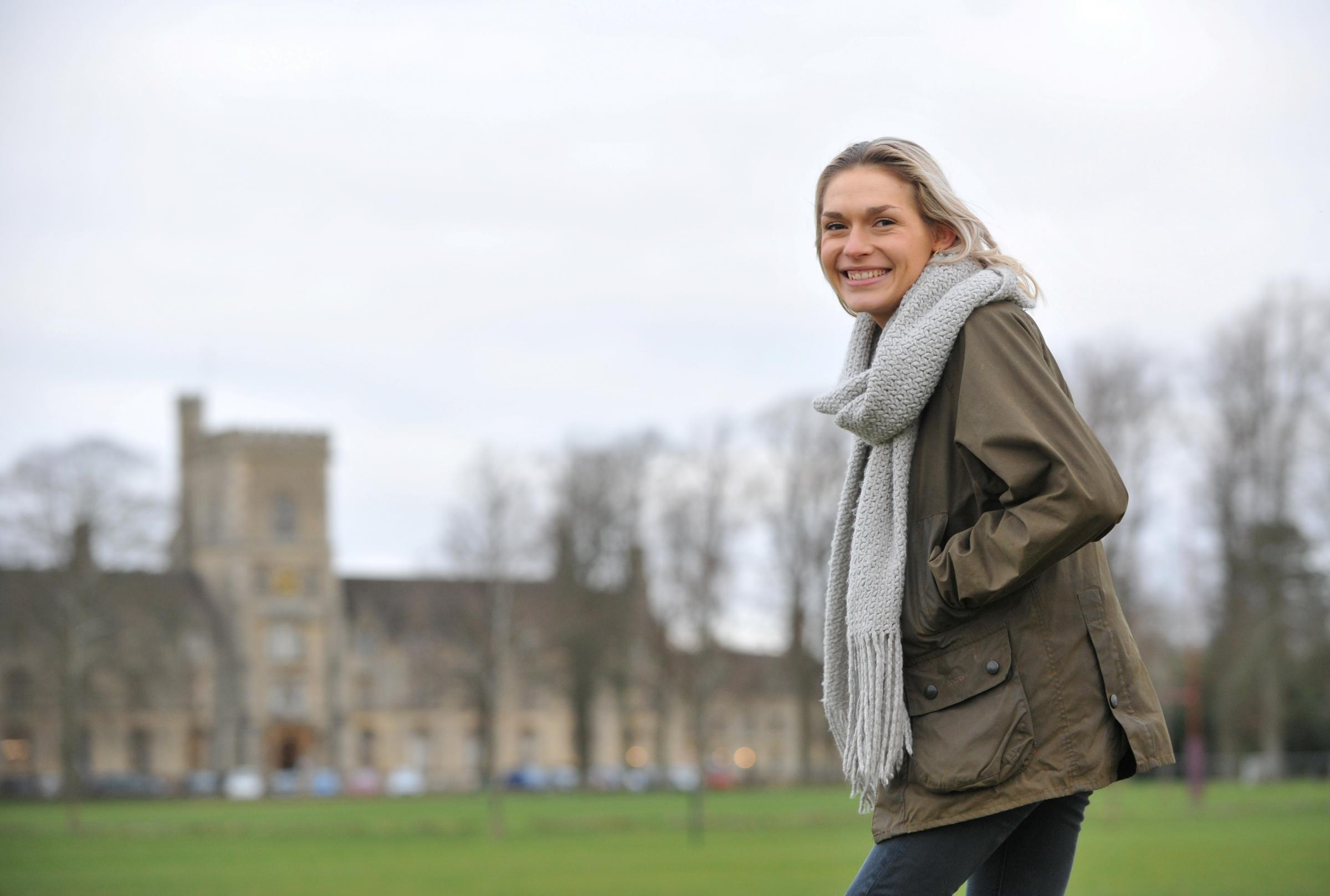 RAU student Isobel Green, BSc (Hons) Real Estate, who is Campaigns and Wellbeing Officer for the Students' Union and Student Ambassador. Image: Mikal Ludlow
