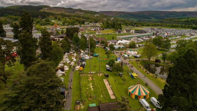 Aerial view of the Smallholding and Countryside Festival. Picture: Tremio Aerial Photography